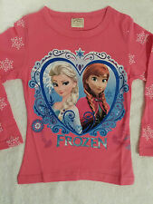 FROZEN ELSA & ANNA PINK COTTON LONG SLEEVE TOP