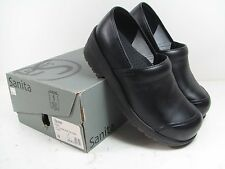 NEW in BOX Men's SANITA 'Leo Safe Protector w/ Cap Toe' BLACK CLOG