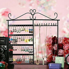 2016 Earrings Ear Studs Necklace Jewelry Display Rack Metal Stand Organizer TOP