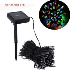 50,100,200LED String Multi-Colour Fairy Garden Christmas Party Light Solar Panel