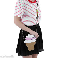 Ice Cream Detachable Chain Belt Strap Shoulder Messenger Cell Phone Bag Girl