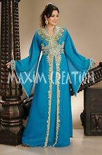 NEW GEORGETTE KAFTAN JALABIYA JILBAB MODERN CAFTAN WEDDING GOWN DRESS 4293