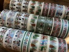 Christmas CUTE washi tape for crafts parties gifts scrapbooking santa snow man