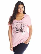 PLUS JMS JUST MY SIZE TOP Blouse Shirt Pink Ride  T-SHIRT TEE 1X 4X New