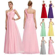 One Shoulder Bridesmaid Dress Formal Evening Party Long Cocktail Prom MAXI Gown