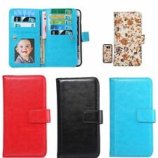 Flip Magnetic Leather Wallet Pouch Case Card Holder Cover For Samsung /iPhone