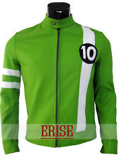 Alien Swarm Ryan Kelley Ben 10 Green Leather Jacket - 100% money Back guarantee!