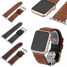 38/42mm Genuine Leather Retro Watchband Watch Band Strap For Apple Watch iWatch