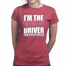 Crazy Driver Driving Racing Turbo Rally WRC Race Ladies Womens T shirt Top