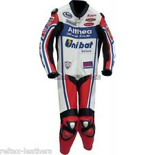 WSB CARLOS CHECA ALTHEA Racing UNIBAT Motorcycle Race Rep Leather One Piece Suit