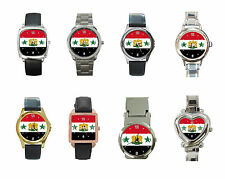 New Suriah Syrian flag with coat of arms Metal Watch Collection Free Shipping