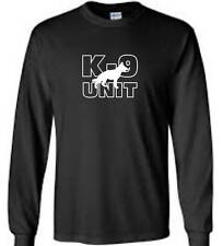 K-9 Unit Police German Shepherd Long Sleeve T-Shirt Law Enforcement Mens Tee