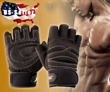 Men Weight Lifting Gym Training Sport Fitness Gloves Workout Exercise Wrist Wrap