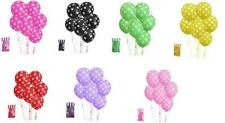 New Polka Dot Balloons 8 Piece Birthday Party Baby Shower Christening High Tea.