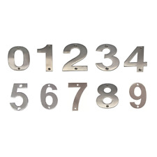 JMA Door House Number #0-9 50mm Numeral Visible Fix 304 Grade Stainless Steel