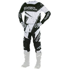 Oneal 2017 NEW Mx Element Jersey Pants Gloves BMX Black White Motocross Gear Set