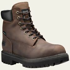 "Timberland PRO Boots Mens Direct Attach 6"" Steel Toe Waterproof Insulated Brown"