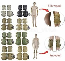 Skate Elbow Knee Pads Military Tactical Airsoft Paintball Combat Protective Gear