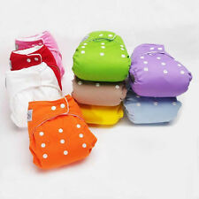 1*Reusable Baby Infant Adjustable Cloth Nappy Soft Cotton Diaper Cover Washable