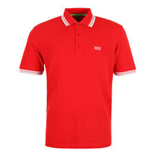 New Mens Hugo Boss Green  Paddy Polo - Red  Short sleeve