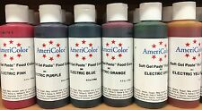 Large Americolor 4.5oz (128g) Gel Paste Food Colouring Dye Edible Ink Bottle