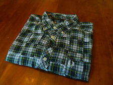 NEW GENUINE Fred Perry Mens Patchwork Tartan Green/Blue Shirt - RRP £65