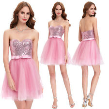 2016 Sequined Short Cocktail Dress Evening Prom Ball Party Gown Bridesmaid Dress