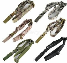 One Single Point Multi Mission Tactical Rifle Sling Elastic Bungee Strap Hunting