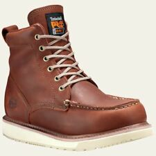 "Timberland PRO Boots Mens 6"" Soft Toe Brown Wedge Boot 53009"