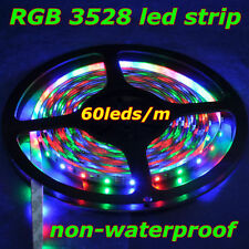 5M DC12V 60leds LED Strip SMD 3528 Non-waterproof White Warm White RGB For Party