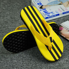 New Mens Summer Fashion Stripe Beach Flip-flops Antiskid Slippers Shoes Sandals