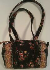 Chocolat Retired 2003 Vera Bradley Small Duffel Shoulder Bag Tote Handbag Zipper