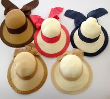 New Women's Crushable Packable Cloche Straw Floppy Wide Brim Hat SPF50
