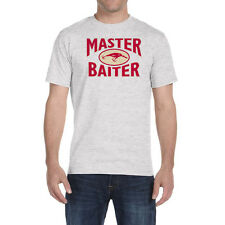 Master Baiter T Shirt Lure Fishing Outdoors Funny Slogans Adult Humor Fish Tee