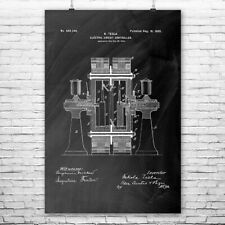 Tesla Electric Cicruit Controller Poster Patent Print Wall Art Gift Decor
