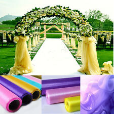 10 M Sheer Crystal Organza Fabric For Wedding Decoration 1.5M Wide 8 Colors