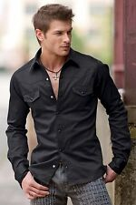 UnderGear Men's Brigade Shirt Stylish Slim Fit  2 Colors: White or Black