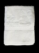 "White Baptism Towel Large Terry Cotton ""MY BAPTISM"" w/ Angel Embroidered New"