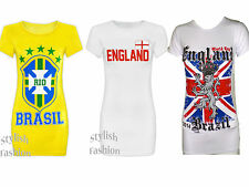 S172 NEW WOMEN'S LADIES WORLD CUP 2014 ENGLAND NATIONAL CRICKET 2015 T-SHIRT TOP