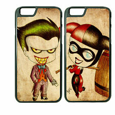 Chibi Joker and Harley Custom Couple Phone Case for iPhone 6 PLUS 6 5 5s 4 4s