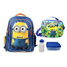 "16"" Despicable Me Minion Backpack Large Shoulder Boys School Bag Kids Lunch Bag"
