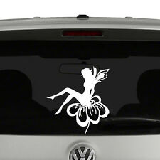 Garden Fairy on Flower Vinyl Decal Sticker Car Window