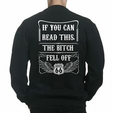 If You Can Read This The Bitch Fell Off Funny Bikers Hells Sweatshirt Hoodie R19
