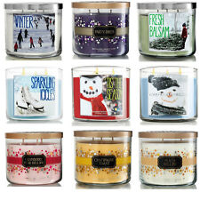 Bath & Body Works 3-Wick Candle Winter,Cranberry,Peach Bellini,Peppermint etc