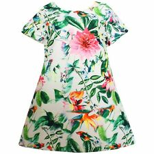 NWT Summer Girls Dresses Floral Sundress Party Casual Baby Kids Clothes Size 2-6