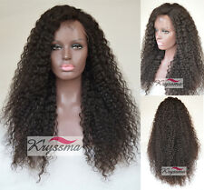 Natural Looking Indian Remy Curly Hair Lace Front Human Hair Wigs With Baby Hair
