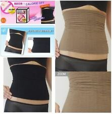 FAT BUSTER CALORIE OFF SLIM WAIST TUMMY TRIMMER BODY SHAPER -BLACK/BEIGE-M/L-NEW