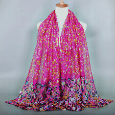 Fashion Womens Ladies Chiffon Soft Scarves Long Wraps Shawl Beach Silk Scarf New