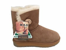 Australian Made Genuine Sheepskin Lady's One Button UGG Boots Chestnut Colour