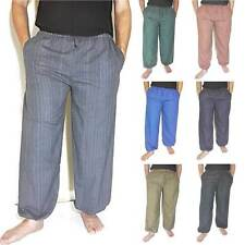 Men's Pants Baggy Harem Hippie Boho One Size 100% Cotton Beach Yoga Trousers New